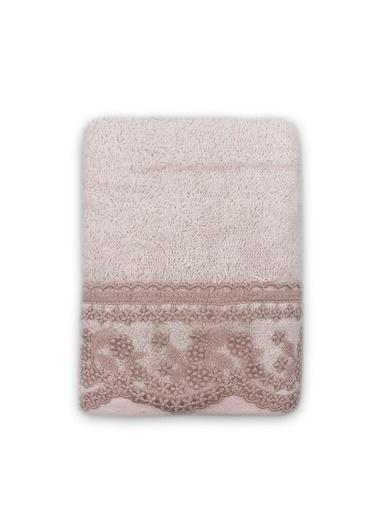 Nazik Home %100 Organik Banyo Pamuk Yüz Havlusu 50 x 80 cm Pudra